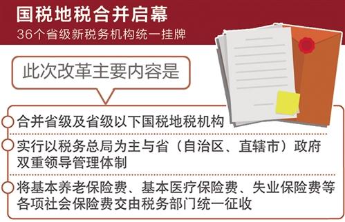 国税地税征管体制改革迈出关键一步
